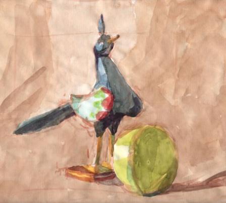 Oiseau pommes 1