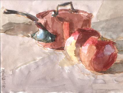 Cuivre pommes