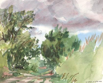 La Jarne - Chemin