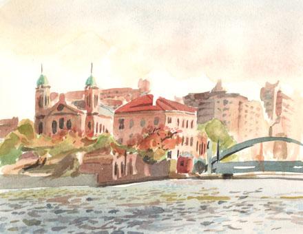 Ourcq et pont