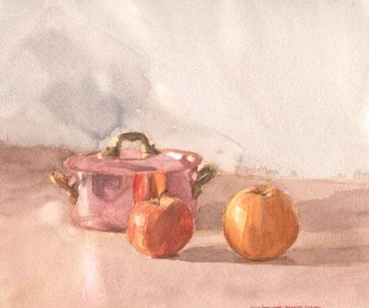 Cuivre pomme orange