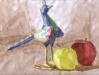 Oiseau pommes