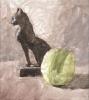 Chat et pomme