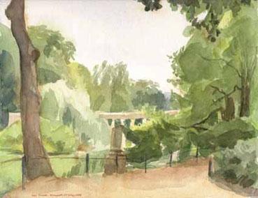Bord du lac au Parc Monceau