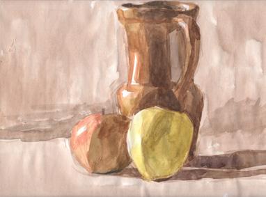 Vase et pommes 2