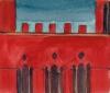 Fresque Sienne façade rouge